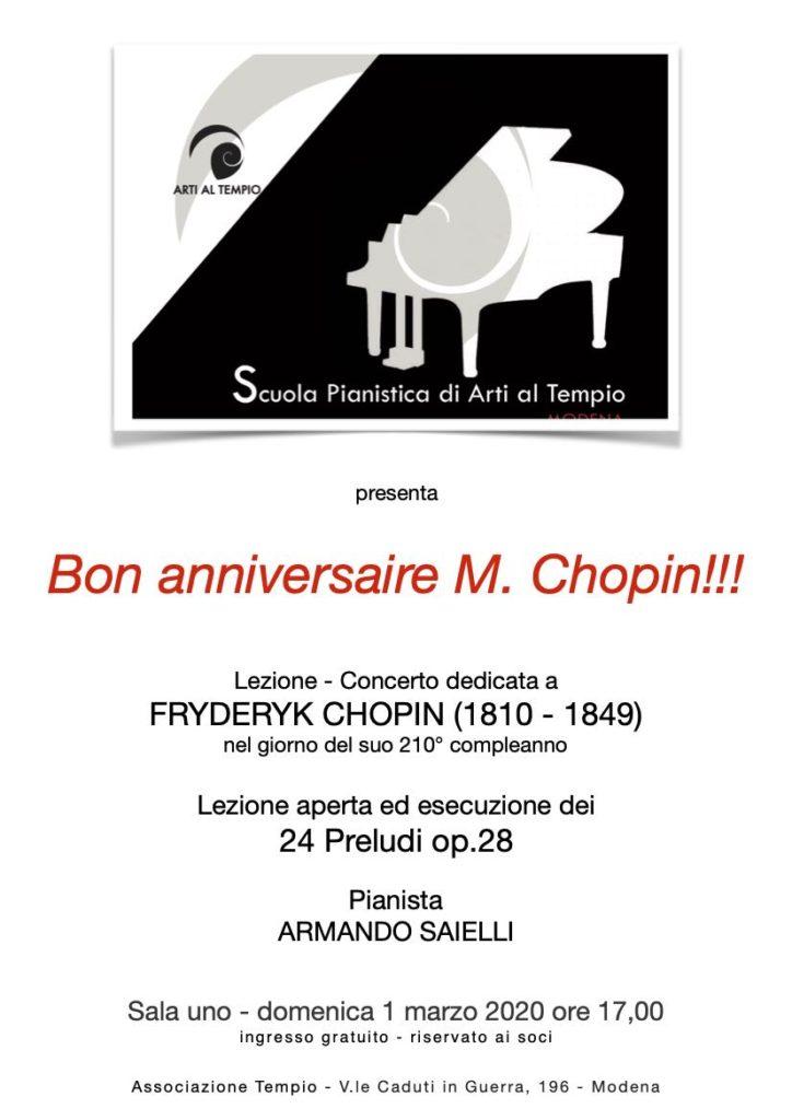 Tempio Chopin 1 marzo Saielli